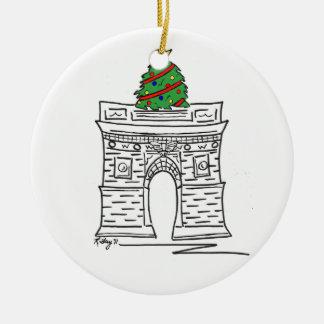 New York Christmas Ornament Washington Square Tree
