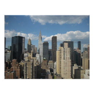 New York Chrysler Building Poster