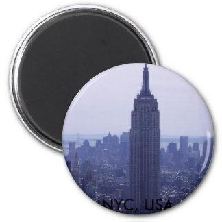 New York City 2 Inch Round Magnet