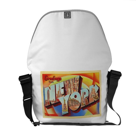 New York City #2 NY Large Letter Travel Postcard - Courier Bag