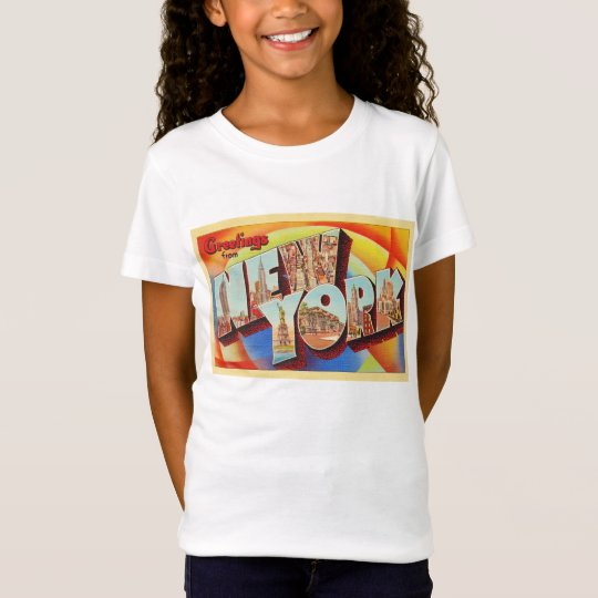 New York City #2 NY Large Letter Travel Postcard - T-Shirt