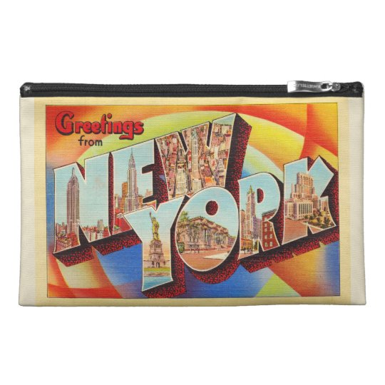 New York City #2 NY Large Letter Travel Postcard - Travel Accessory Bag