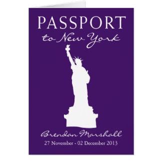 New York City 40th Birthday Passport Card