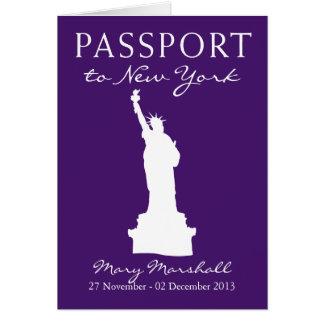 New York City 60th Birthday Passport Card
