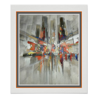 New York City Abstract Wall Art 15.5 x 18