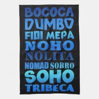 New York City Acronyms Tea Towels