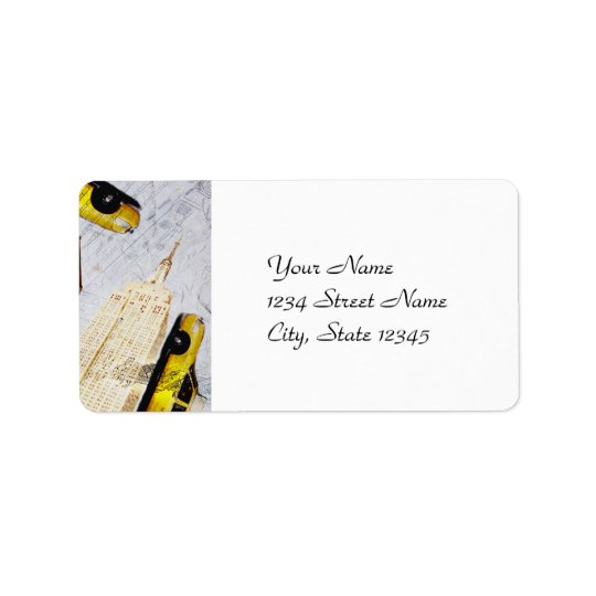 New York City address label template