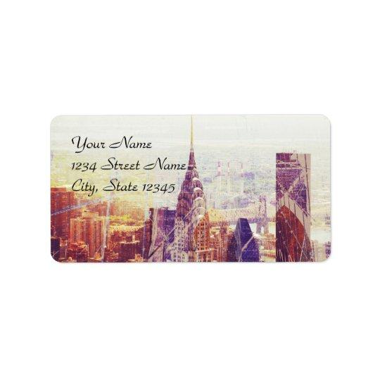 New York City address label template