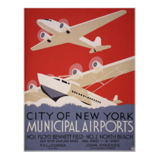 New York City airports Poster