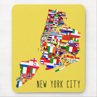 New York City Ancestry Neighborhood Flags Mousemat Mouse Pad