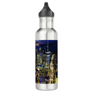 New York City at Night 710 Ml Water Bottle