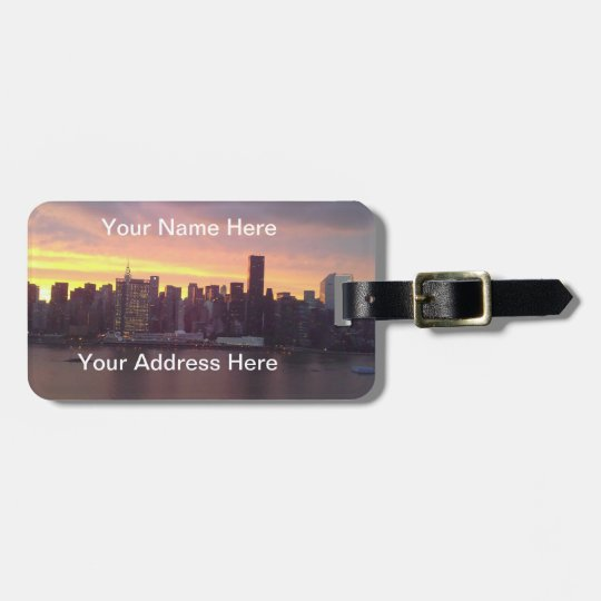 New York City at Sunset Luggage Tag
