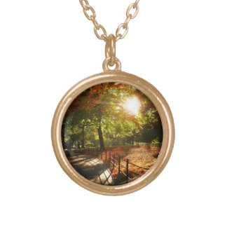New York City Autumn Sun Gold Plated Necklace