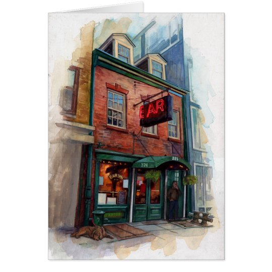 New York City Bar Illustration Gift Card