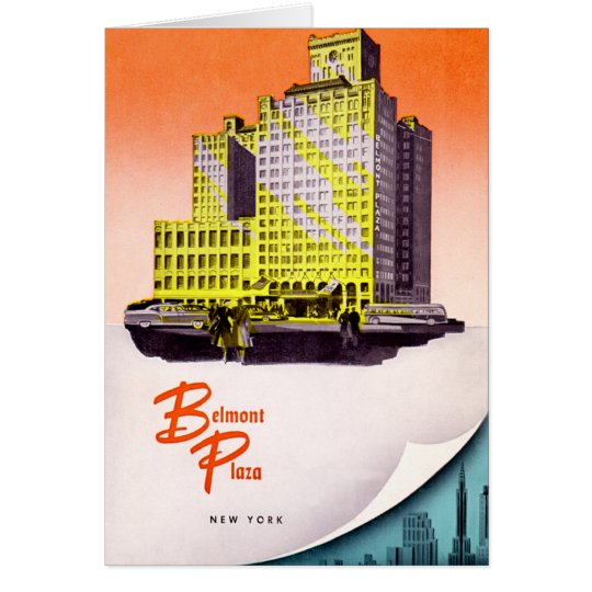 New York City Belmont Plaza Hotel Card