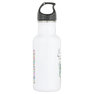 New York City Bike Map 18 Ounce Water Bottle