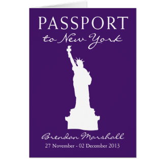 New York City Birthday Passport Card