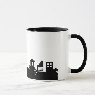 New York City Black and White Mug