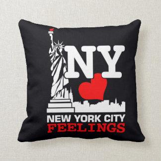 New York City Black Pillow