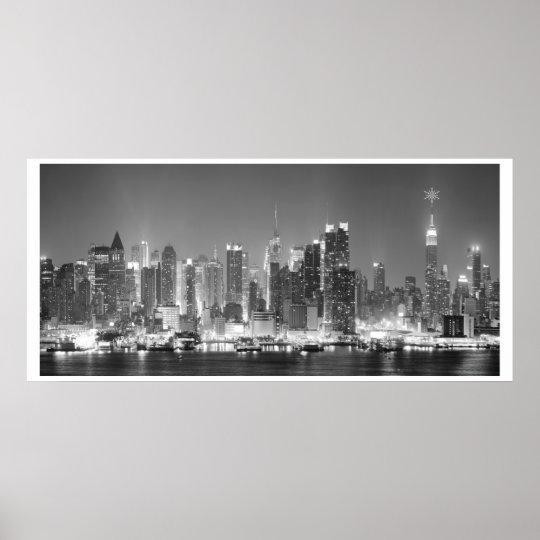 New-York City Black & White Photo Poster
