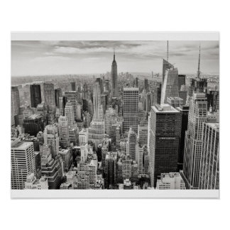 New York City Black & White Poster