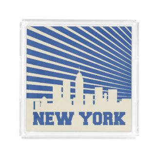 New York City Blue Acrylic Tray