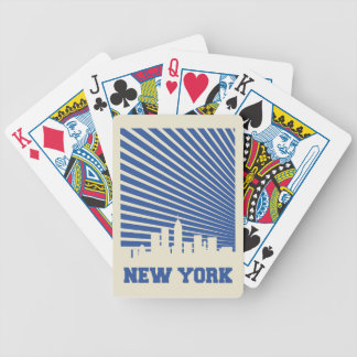 New York City Blue Bicycle Playing Cards