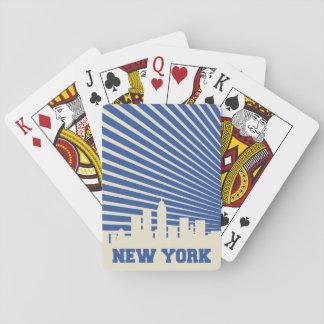New York City Blue Poker Deck