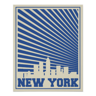 New York City Blue Poster
