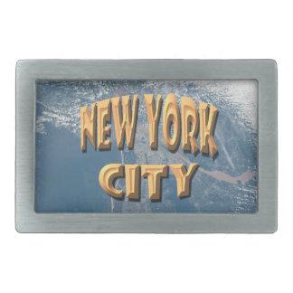 New York City Boucle De Ceinture Rectangulaire