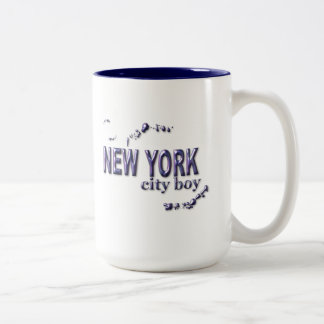 New York City Boy Two-Tone Coffee Mug