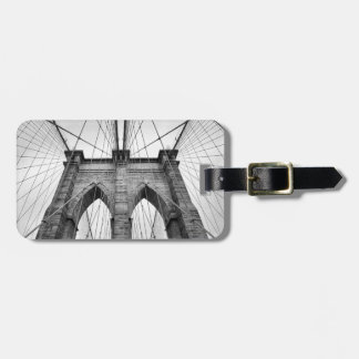 New-York City Brooklyn Bridge Black & White Photo Luggage Tag