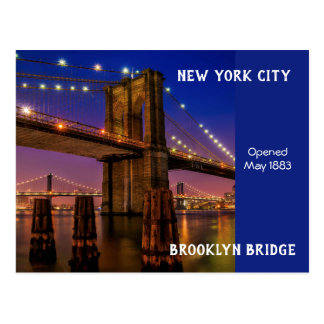 New York City Brooklyn Bridge Postcard