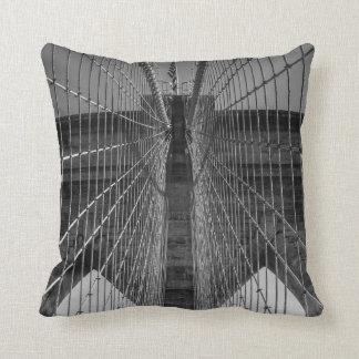 New York City Brooklyn Bridge & Skyline 2 Sided Throw Pillow