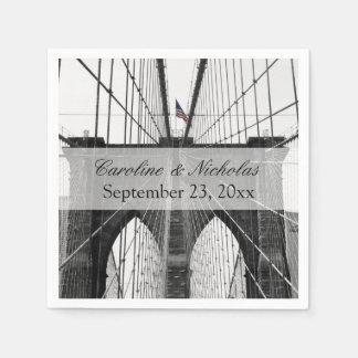 New York City Brooklyn Bridge Wedding Disposable Napkins