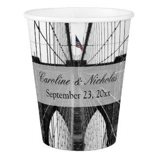 New York City Brooklyn Bridge Wedding Paper Cup
