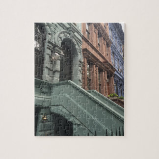 New York City Brownstones Upper West Side NYC Jigsaw Puzzle