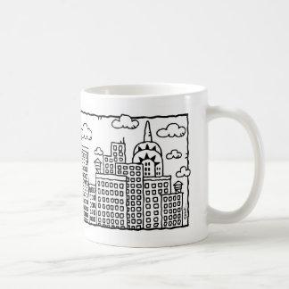 New York City Cartoon Skyline Mug