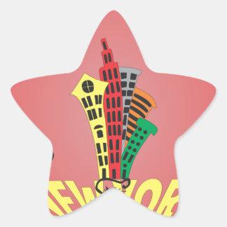New York city cat Star Sticker