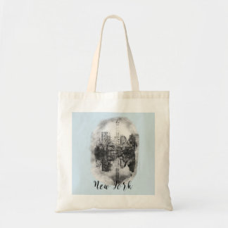New York City Central Park Drawing Tote Bag