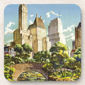 New York City Central Park Vintage Poster Coaster
