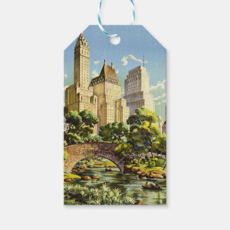 New York City Central Park Vintage Poster Gift Tags