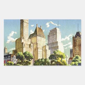 New York City Central Park Vintage Poster Sticker