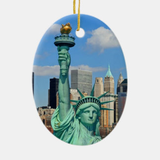 NEW YORK CITY CERAMIC OVAL ORNAMENT