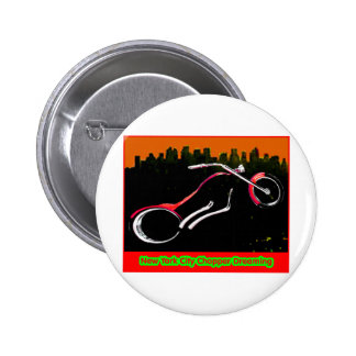 New York City Chopper Dreaming Red jGibney The MUS Button