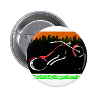 New York City Chopper Dreaming Red transp jGibney Pins