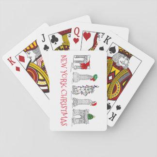 New York City Christmas NYC Holiday Landmarks Poker Deck