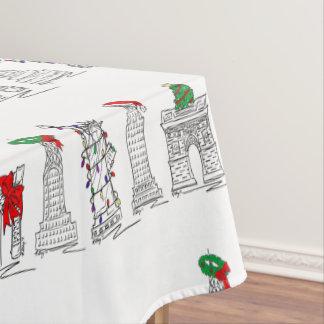 New York City Christmas NYC Holiday Landmarks Tablecloth