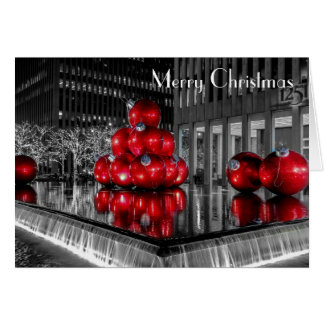 New York City Christmas Photo @ Rockefeller Center Card