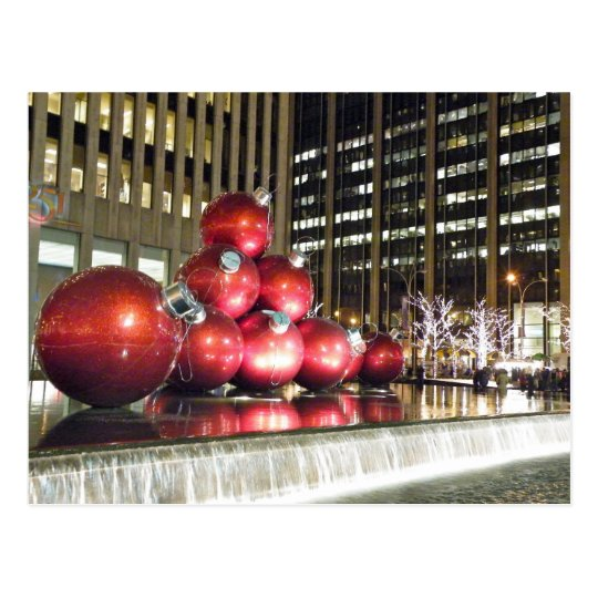 New York City Christmas Postcard